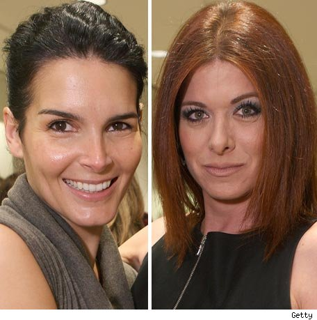 Angie Harmon and Debra Messing