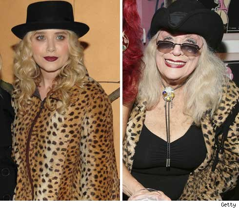 Mary-Kate Olsen and Sylvia Miles