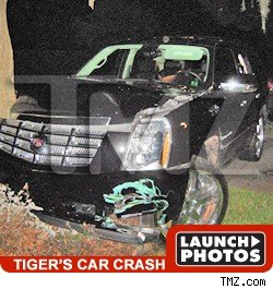 Tiger Woods Car Crash Pics
