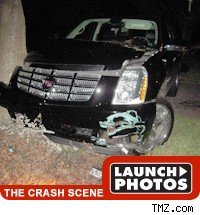 tiger woods crash scene