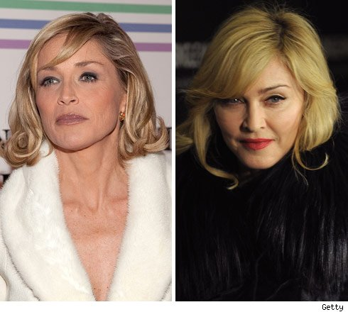Sharon Stone and Madonna