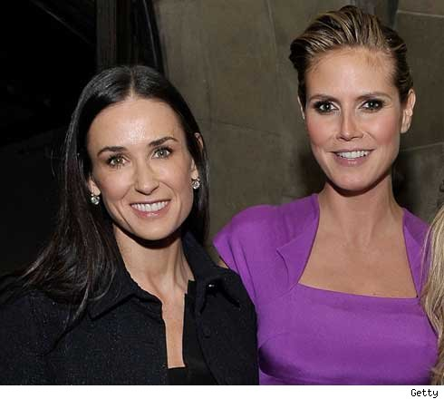 Demi Moore and Heidi Klum