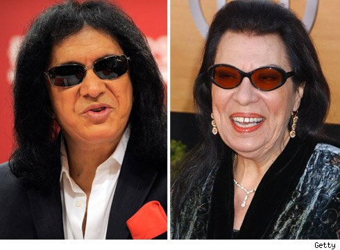 Gene Simmons and Shelley Morrison