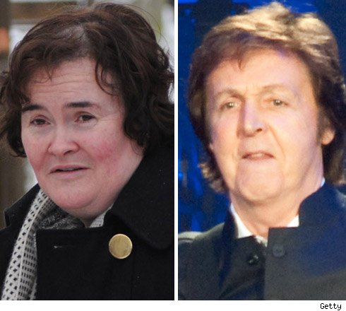 Susan Boyle and Paul McCartney