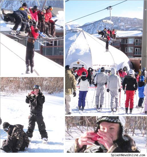 P!nk took time out from hitting the slopes with on-again, off-again,