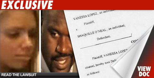 Shaquille O'Neal and Vanessa Lopez Lawsuit