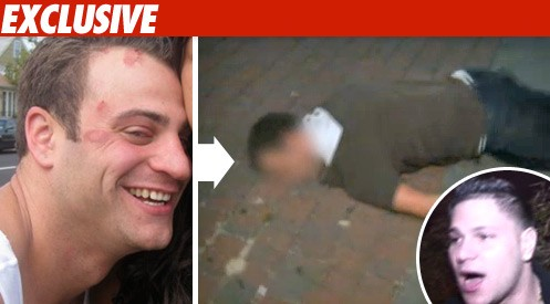 'Jersey' Knockout Victim -- One Huge Racist