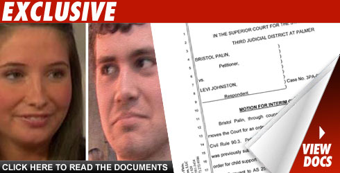 Bristol Palin and Levi Johnston Child Support Documents: Click to view!