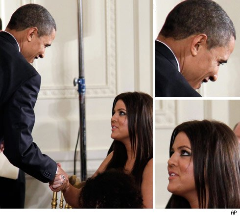 Khloe Kardashian and Barack Obama