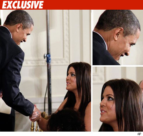 President Barack Obama and Khloe Kardashian