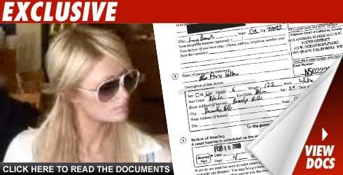 Paris Hilton Hit with Barely Legible TRO
