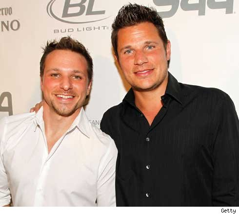 Drew and Nick Lachey