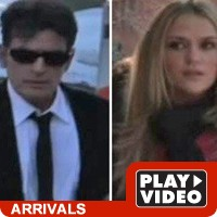 Charlie Sheen and Brooke Mueller at court