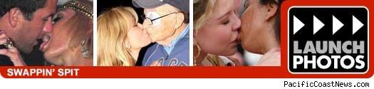 Kissing celebrites