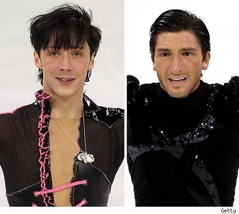 Johnny Weir and Evan Lysacek