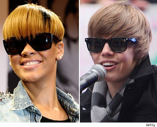 Rihanna and Justin Bieber