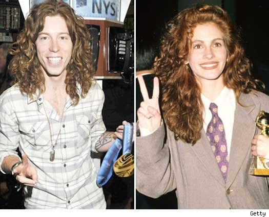 Shaun White and Julia Roberts