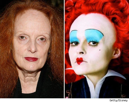 Grace Coddington and The Red Queen
