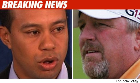 Tiger Woods and Mark Calcavecchia