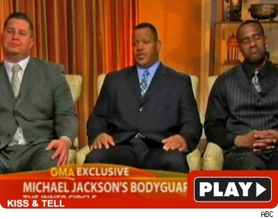 Michael Jackson's bodyguards: Click to watch