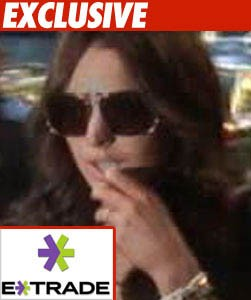 Lindsay Lohan E trade