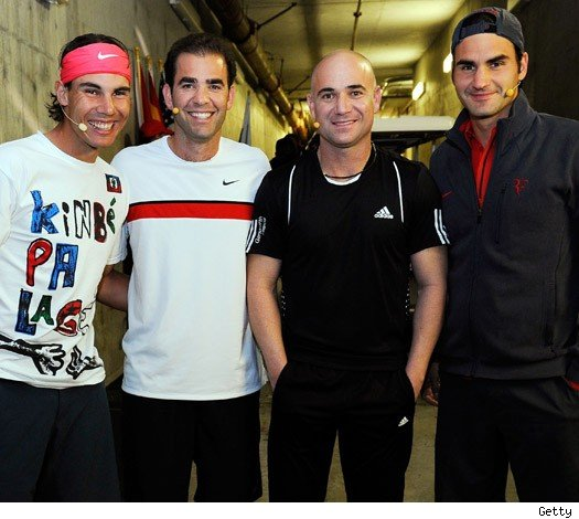 Nadal, Sampras, Agassi and Federer
