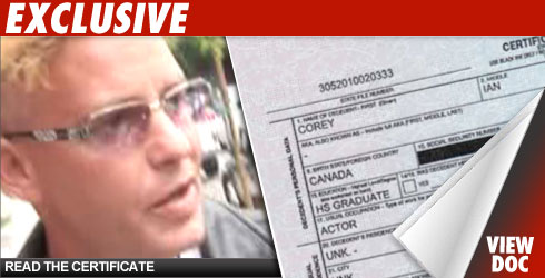 Corey Haim Death Certificate