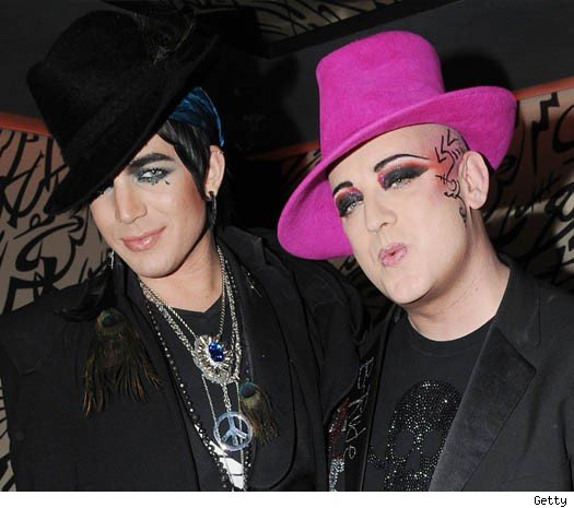 Adam Lambert and Boy George