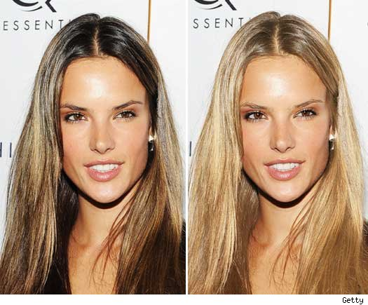 alessandra ambrosio hair color. alessandra ambrosio hair