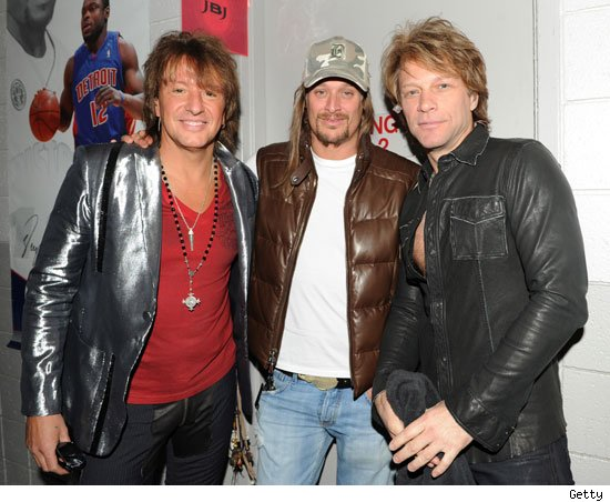 Richie Sambora, Kid Rock and Jon Bon Jovi