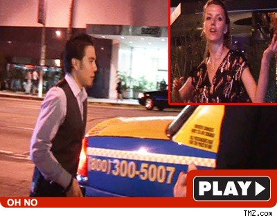 Oh Hail No -- Apolo Ohno Jacks Woman's Cab