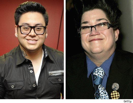 Andrew Garcia and Lea Delaria