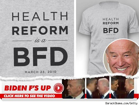 Joe Biden's BFD: Click to View!