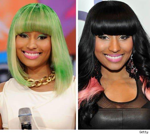 nicki minaj bedrock photos. Nicki Minaj#39;s Green Weave: Yay
