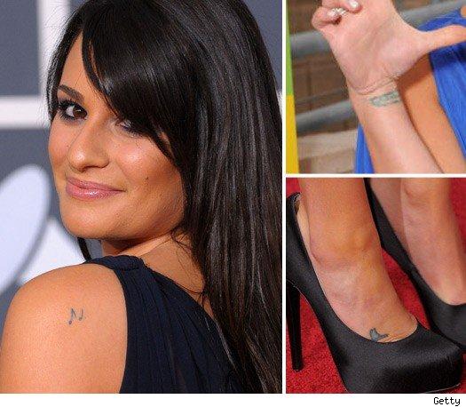 lea michele tattoo