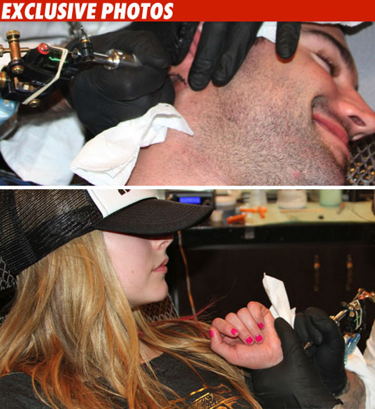 Avril Lavigne And Brody Jenner Tattoos. Avril Lavigne and Brody Jenner