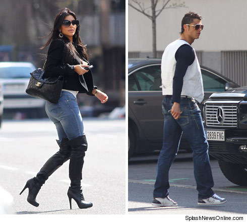 Kim Kardashian and Cristiano Ronaldo Hook Up in Madrid (Photo)