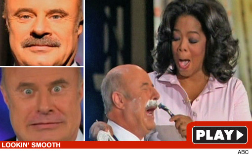 Oprah Winfrey Shaves Dr. Phil's Mustache on National TV