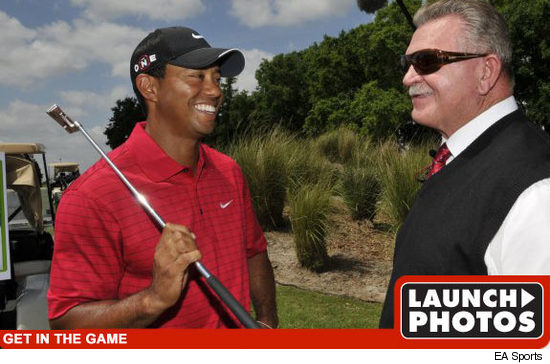 Tiger Woods & Mike Ditka