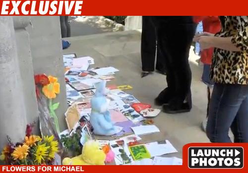 michael jackson fans at michael jackson's grave