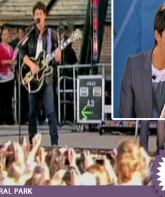 JoBros Sing Westside Tune to East Coast Crowd