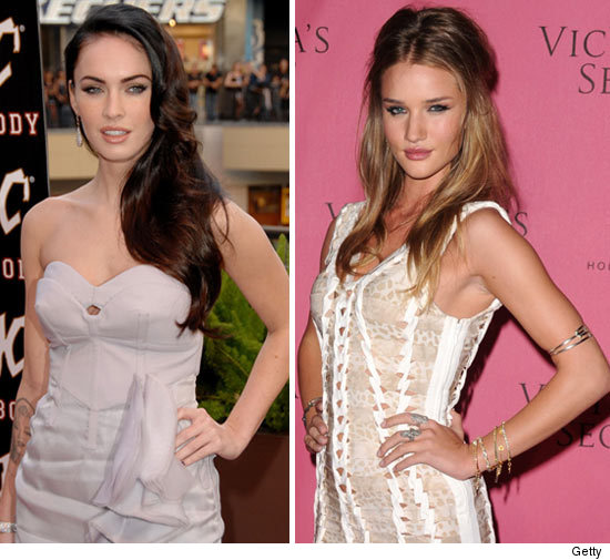 shes natural 90 girls list beats megan foxs plastic Rosie Huntington Whiteley vs Megan Fox
