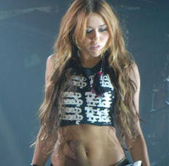 Miley Cyrus Stomachs Private Parisian Show