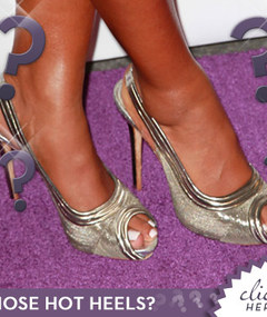 Whose Stunning Silver Pumps?