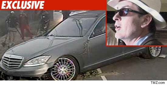 For a second time, it looks like the car thieves who jacked Charlie Sheen's ...