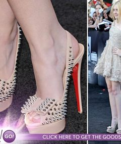 Dakota's Spikey Shoes -- How Much It Cost?