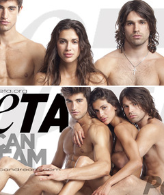 Miley's Ex Gets Naked for PETA
