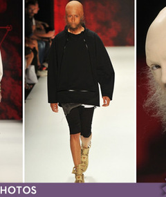 Berlin Fashion Show -- Seriously Hairy Style