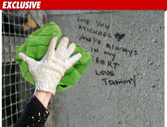 El club oficial de Michael Jackson del Sur de California ofrece limpiar la reciente ola de vandalismo == The Official Michael Jackson Fans of Southern California offering to clean up the recent wave of vandalism