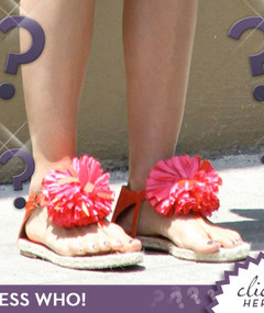 Guess Whose Flowery Feet!